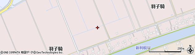 茨城県河内町(稲敷郡)羽子騎周辺の地図