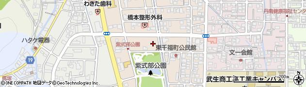 福井県越前市東千福町周辺の地図