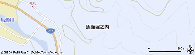 岐阜県下呂市馬瀬堀之内周辺の地図