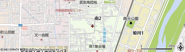 福井県越前市南周辺の地図