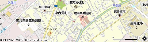 埼玉県川越市中台元町周辺の地図