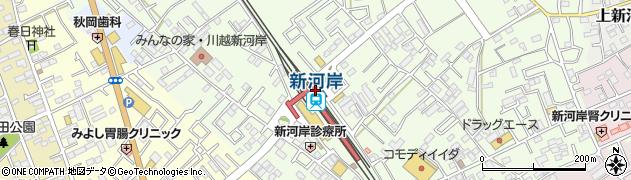 埼玉県川越市周辺の地図