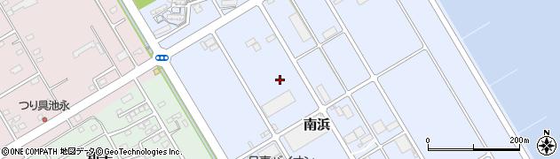 茨城県神栖市南浜周辺の地図