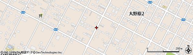 茨城県神栖市大野原周辺の地図