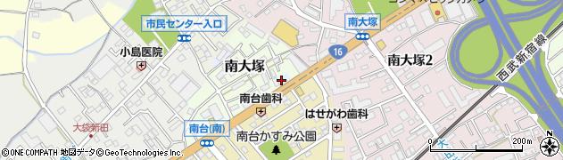 埼玉県川越市青柳周辺の地図