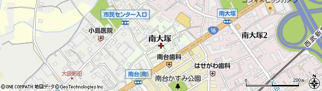 埼玉県川越市南大塚周辺の地図