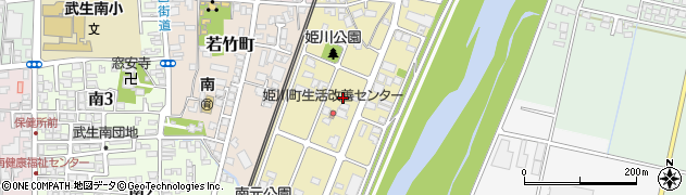 福井県越前市姫川周辺の地図
