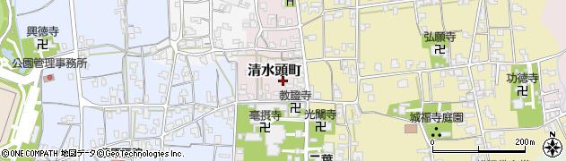 福井県越前市清水頭町周辺の地図