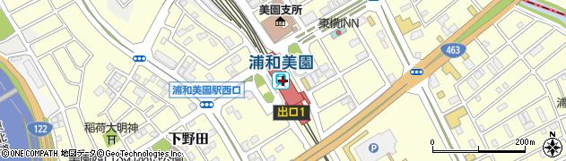 埼玉県さいたま市緑区周辺の地図