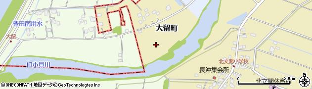 茨城県龍ケ崎市大留町周辺の地図