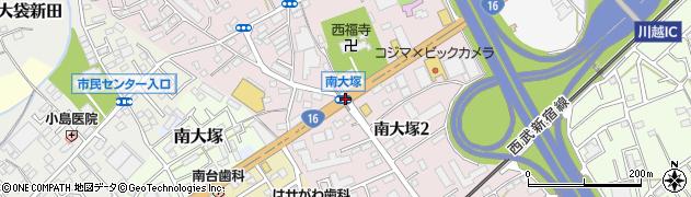 南大塚周辺の地図