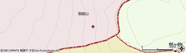御嶽山周辺の地図