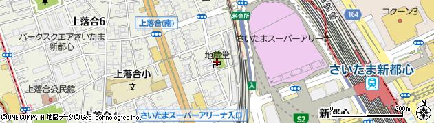 地蔵堂周辺の地図