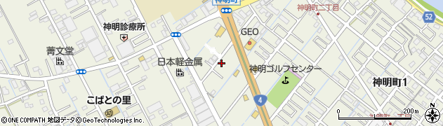 埼玉県越谷市神明町周辺の地図