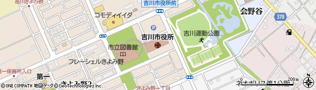 埼玉県吉川市周辺の地図