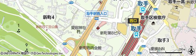茨城県取手市新町周辺の地図