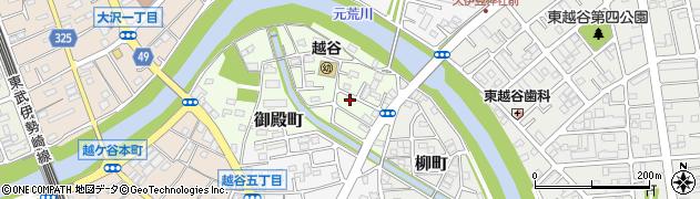 埼玉県越谷市御殿町周辺の地図
