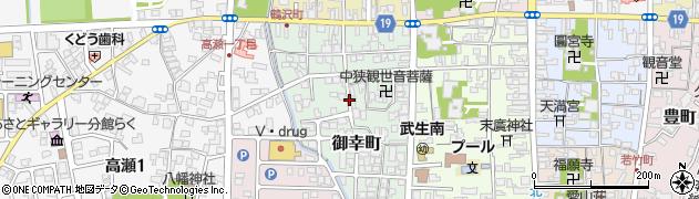 福井県越前市御幸町周辺の地図