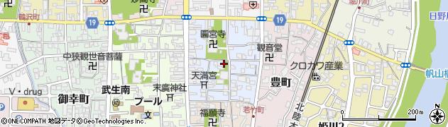 福井県越前市あおば町周辺の地図