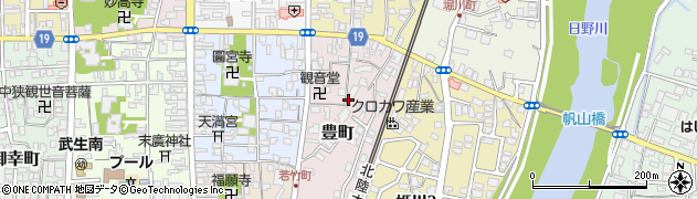 福井県越前市豊町周辺の地図