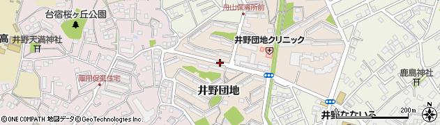 茨城県取手市井野団地周辺の地図