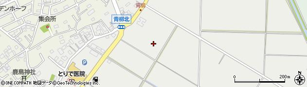 茨城県取手市青柳周辺の地図