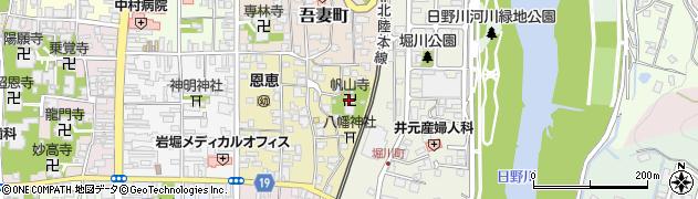帆山寺周辺の地図