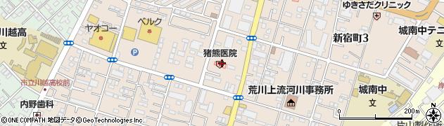 埼玉県川越市新宿町周辺の地図