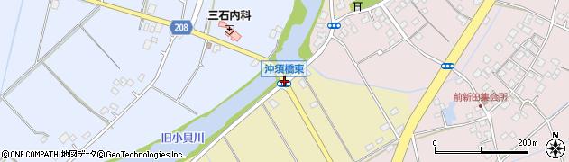 沖須橋東周辺の地図