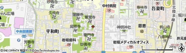 福井県越前市本町周辺の地図