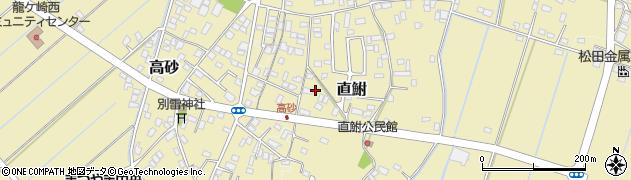 茨城県龍ケ崎市直鮒周辺の地図