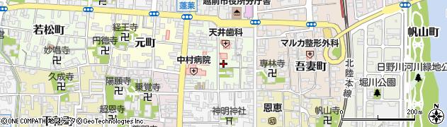 福井県越前市天王町周辺の地図