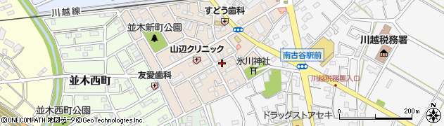 埼玉県川越市並木新町周辺の地図