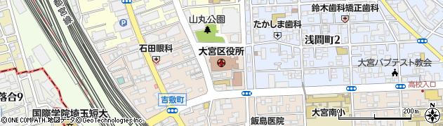 埼玉県さいたま市大宮区周辺の地図