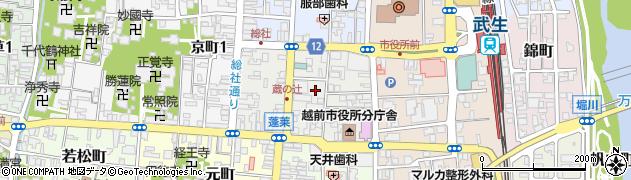 福井県越前市蓬莱町周辺の地図