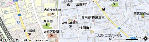 浅間神社周辺の地図