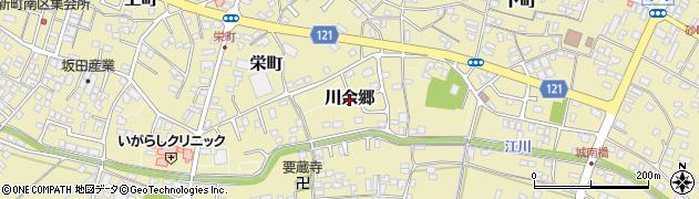 茨城県龍ケ崎市川余郷周辺の地図