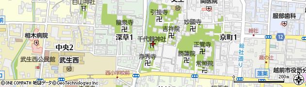 千代鶴神社周辺の地図