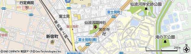 富士浅間神社周辺の地図