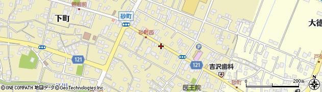 茨城県龍ケ崎市砂町周辺の地図
