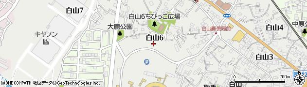 茨城県取手市白山周辺の地図