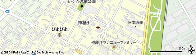 茨城県神栖市神栖周辺の地図