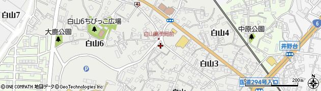 三菱ミシン修理店周辺の地図