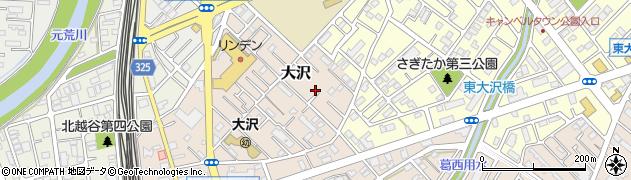 埼玉県越谷市大沢周辺の地図