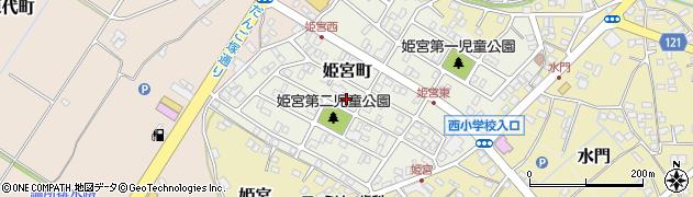 茨城県龍ケ崎市姫宮町周辺の地図
