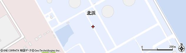 茨城県神栖市北浜周辺の地図