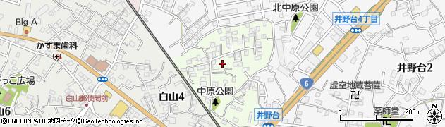 茨城県取手市中原町周辺の地図