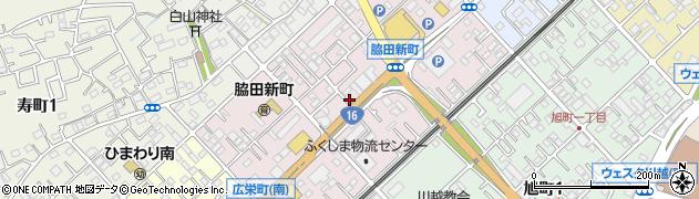 埼玉県川越市脇田新町周辺の地図