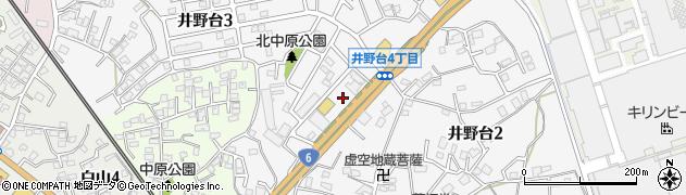 茨城県取手市井野台周辺の地図