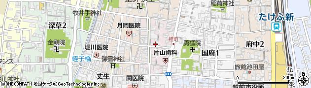福井県越前市桂町周辺の地図